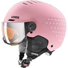 UVEX Rocket Visor Hjelm Børn, pink/hvid